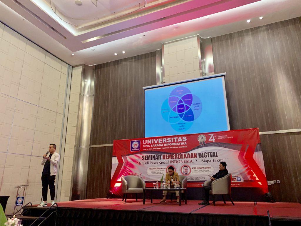 Tessar Napitupulu sebagai Narasumber dalam Seminar Kemerdekaan Digital