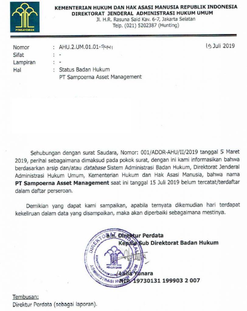 PT Sampoerna Asset Management Bodong Oknum Eko Margono dan Sugeng 5