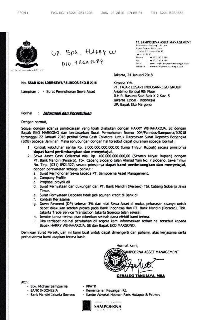 PT Sampoerna Asset Management Bodong Oknum Eko Margono dan Sugeng 6