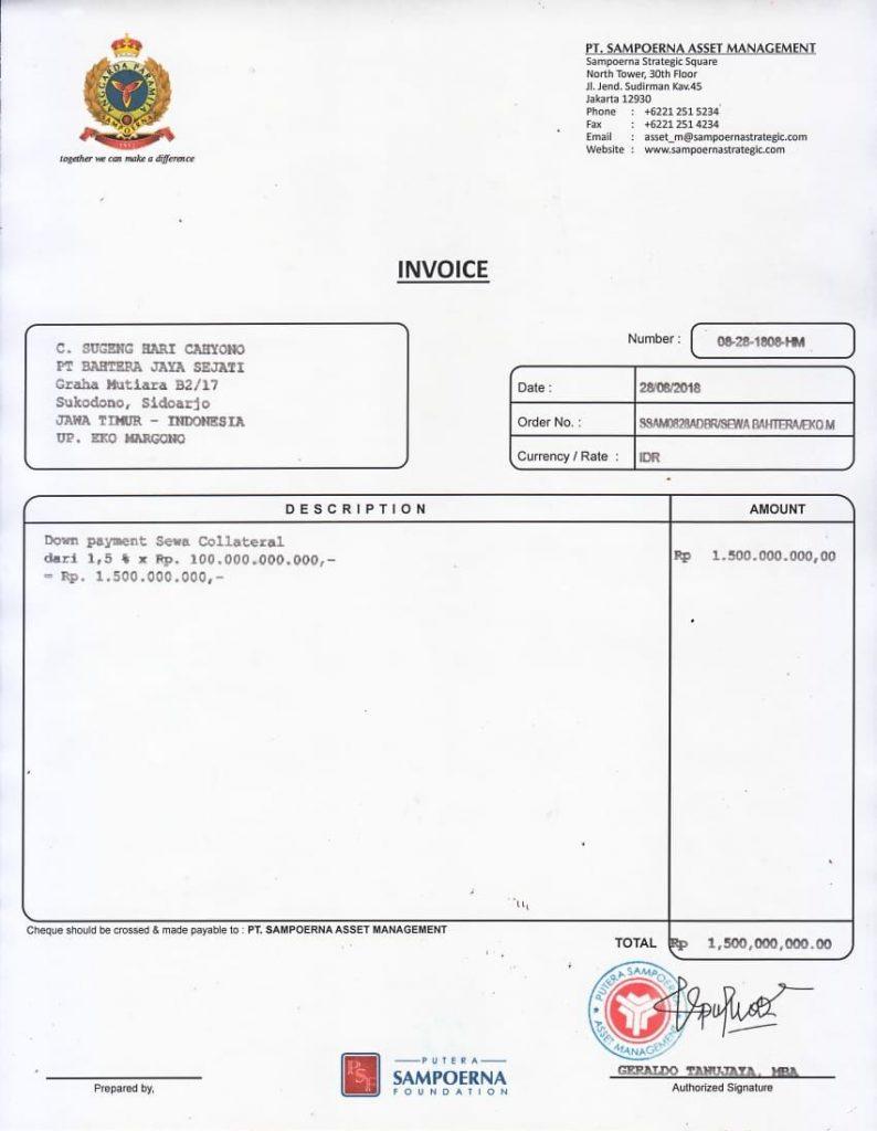 PT Sampoerna Asset Management Bodong Oknum Eko Margono dan Sugeng 3