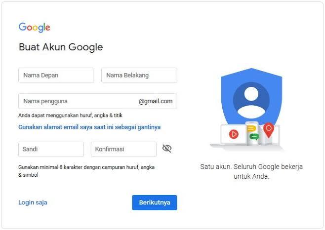 cara membuat akun google mail baru