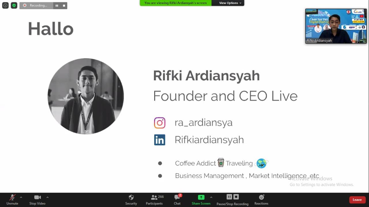Webinar Nusa Mandiri Connect Terapkan Digital Start Up